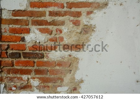 Background of old vintage brick wall,Brick wall texture background,Vintage cement-brick wall texture,Red Brick wall texture background,Old Brick wall texture background,Grungy Brick wall texture  - stock photo