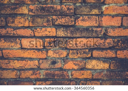 Background of old vintage brick wall - vintage style