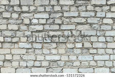 Background of old white brick wall