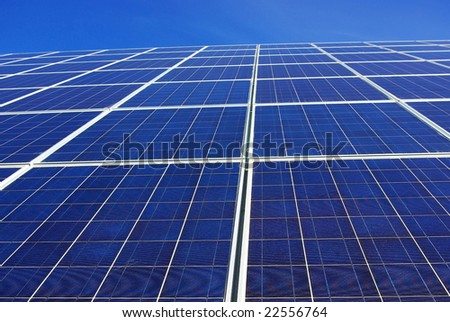 Background of photovoltaic cells.