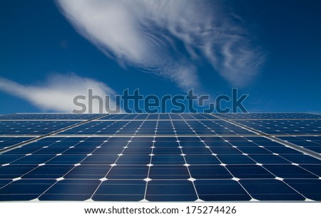 background of photovoltaic modules for renewable energy  - stock photo
