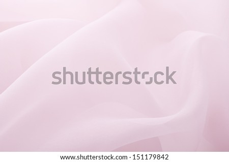 background of pink organza - stock photo