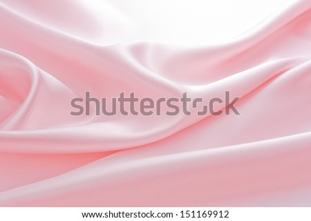 background of pink satin - stock photo