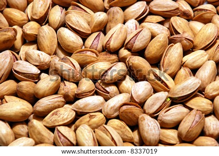 Background of pistachio nuts