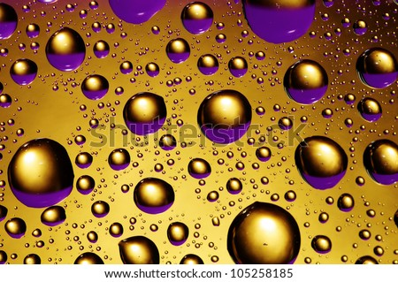 Background Purple Gold Drops Water Stock Photo (Royalty Free) 105258185 - Shutterstock