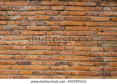 Background of red brick wall pattern  - stock photo