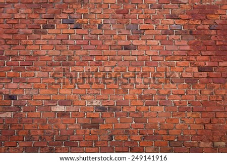 Background of red brick wall pattern texture - stock photo