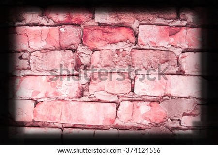 Background of red brick wall texture. Great for labels - stock photo
