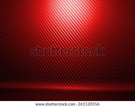 background of red carbon fiber texture - stock photo