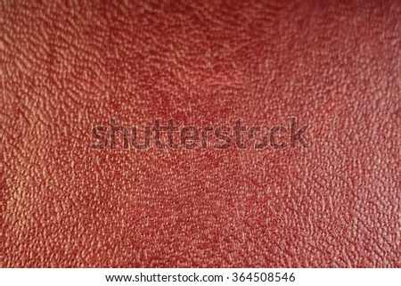 Background of red genuine leather                           - stock photo
