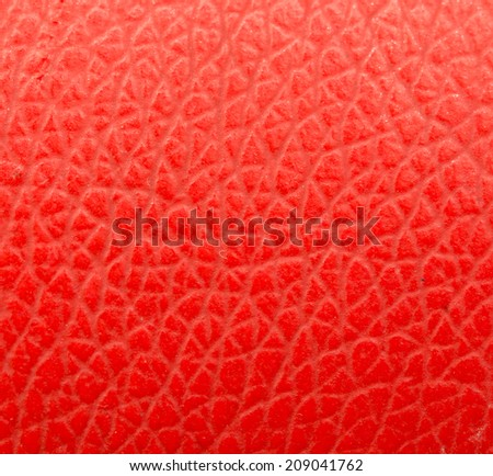 background of red leather - stock photo