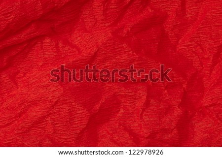 Background of red old crumpled paper - stock photo