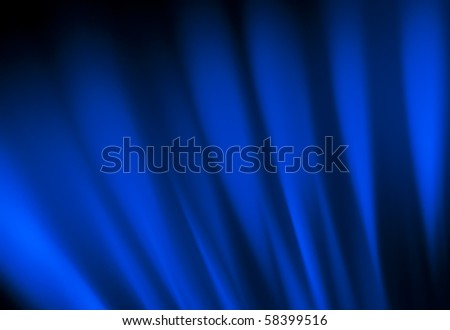 Background of reflecting blue light - stock photo