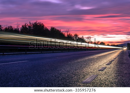 background of road and sky - stock photo