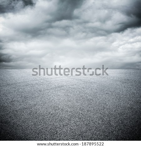background of road with sky - stock photo