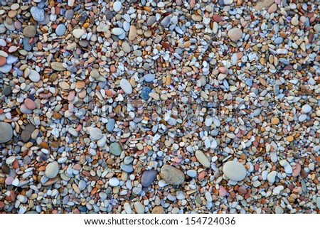 background of round colored sea pebbles - stock photo