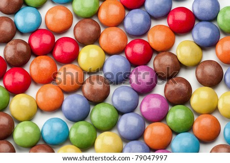 Background of round colorful candies - stock photo
