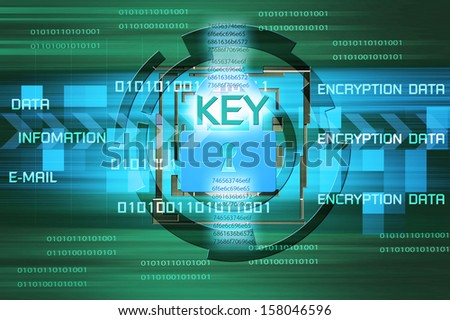 Background of security concept. Encryption information and data. - stock photo