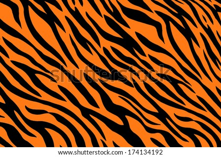 background of seemless tiger stripes pattern - stock photo