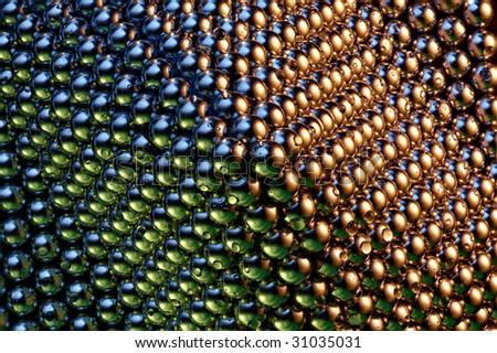 Background of shiny, small Magnetic balls
