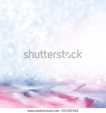 Background of snow. Winter landscape.  - stock photo