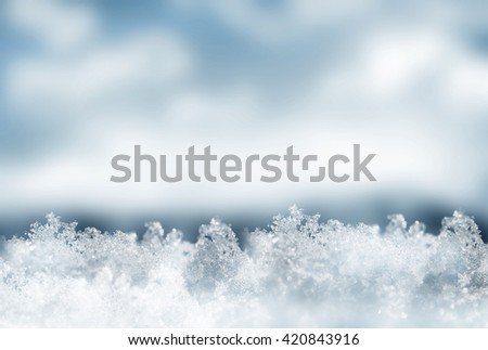 Background of snow. Winter landscape. The texture of the snow - stock photo
