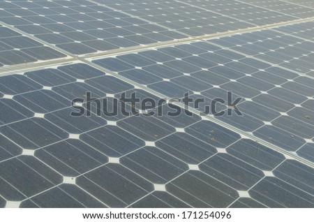 background of  solar panels - stock photo
