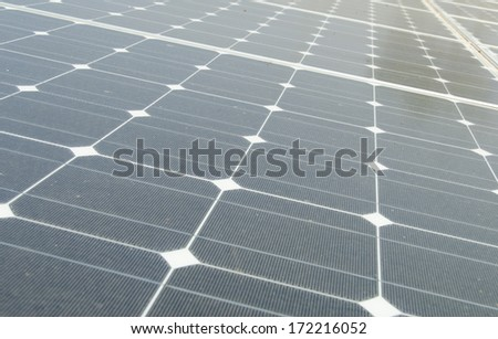 background of  solar panels - stock photo