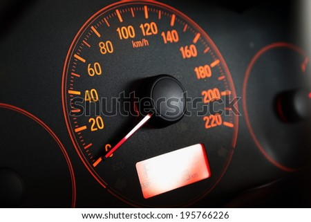 background of speed o meter