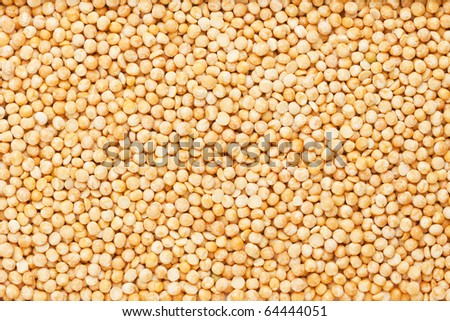 background of split peas