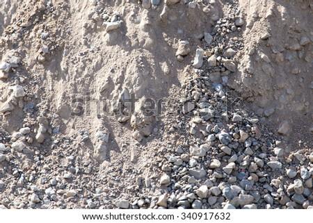 background of stone rubble - stock photo