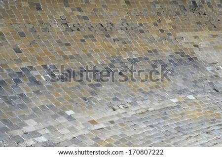 background of stone tiles floor - stock photo