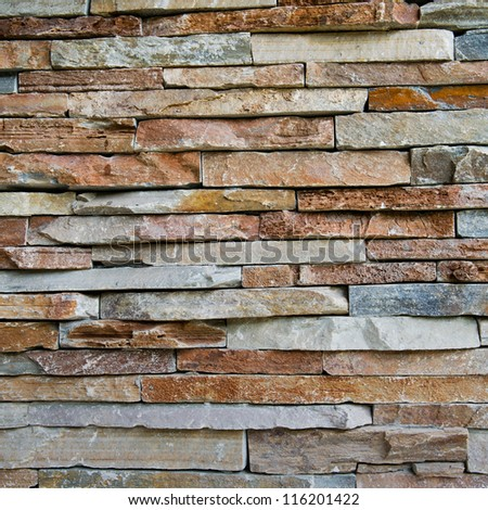 Background of stone wall made with blocks. - stock photo