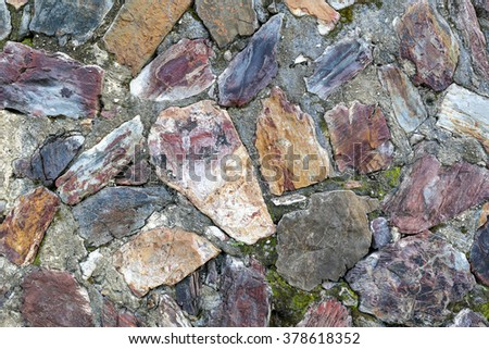 background of stone wall with vintage look - stock photo