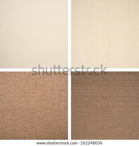 Background of textile texture. Set from 4 elements - stock photo