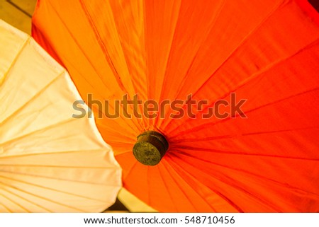 Background of Thai native umbrella, Thailand.