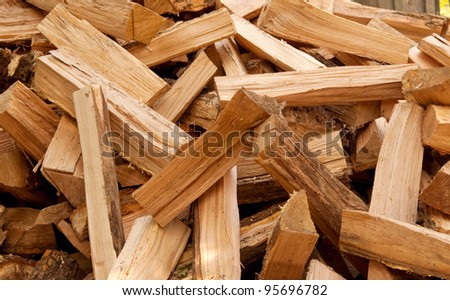 Background of the chopped firewood - stock photo