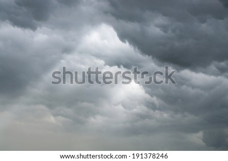 background of the clouds before the storm - stock photo