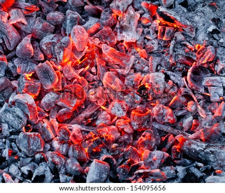 Background of the hot charcoal - stock photo