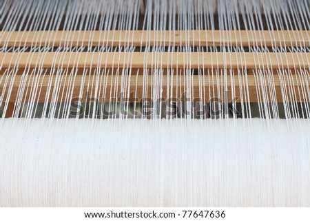 background of the loom at the fair - stock photo