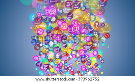 background of the many icons on the topic of education - stock photo