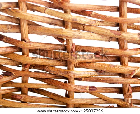 Background of the nature of a wattled willow rod - stock photo