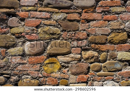 Background of the old brick wall texture - stock photo