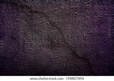 Background of the old walls with dark violet shades. - stock photo