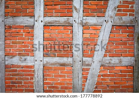 background of timber framing wall