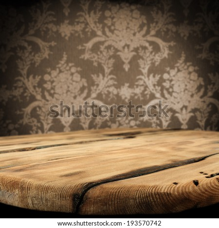 background of wall table and shadow  - stock photo