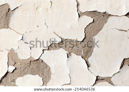 background of wall with peeled paint - stock photo