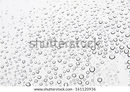 Background of water drops on glass