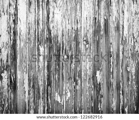 Background of weathered painted wooden plank