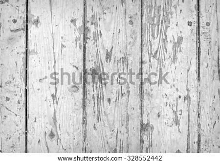 Background of weathered white painted wood - stock photo